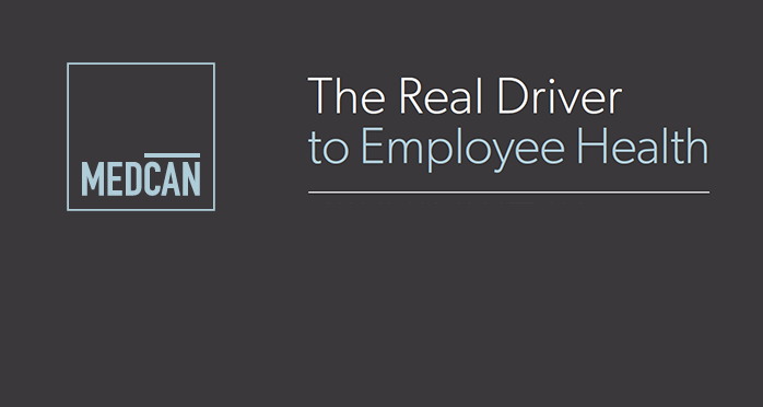 Medcan logo on left. The Real Driver to Employee Health.